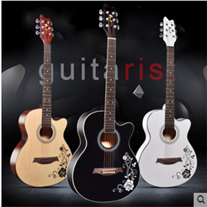 ФОТО 41 inch electric box folk guitar 40-inch beginners boys and girls practice finger bomb acoustic guitar entry jita send package