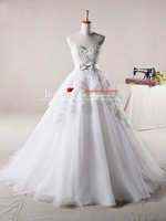 2013 Free Shipping A Line Affordable Organza Appliques Sweetheart Wedding Dresses Online Store Jj122