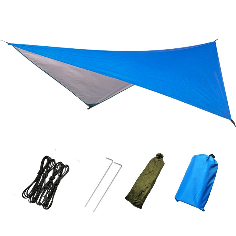 Outdoor Camping Tent Sun Sheld Waterproof Awning Tent Single Layer Hiking Tourist Canopy Sunscreen Parks Beach Tent 5 8 Person in Sun Shelter from Sports Entertainment