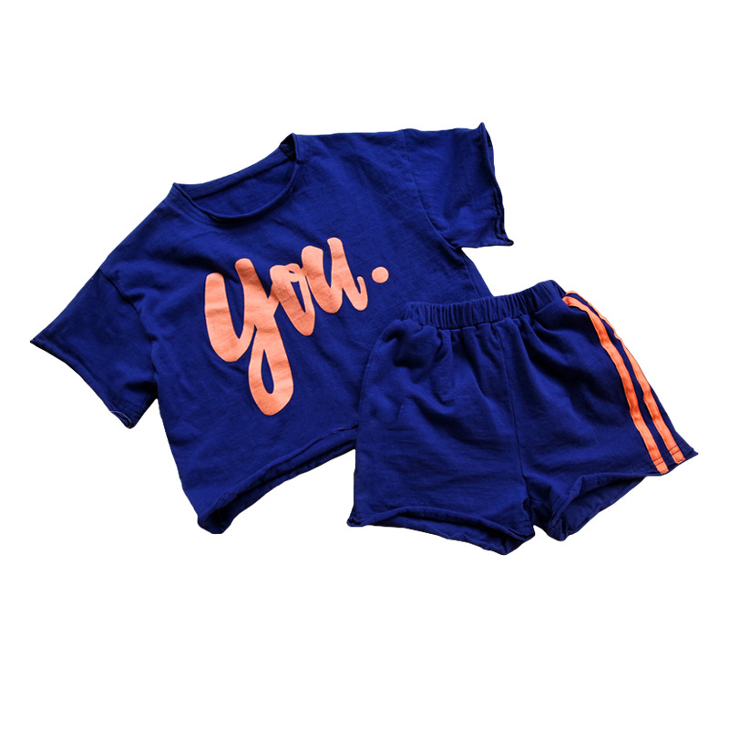 Baby Girls Clothes Sets Summer Letter Printed Girl Tops Shirts + Shorts Casual Kids Childrens Sport Suit 2 Pcs Teens Set CA932Baby Girls Clothes Sets Summer Letter Printed Girl Tops Shirts + Shorts Casual Kids Childrens Sport Suit 2 Pcs Teens Set CA932