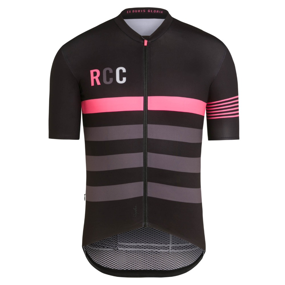 2018 cycling jersey Mens Bike jersey summer Pro MTB Shirts Short sleeve Team Maillot Ciclismo Bicycle jersey Black pink gray2018 cycling jersey Mens Bike jersey summer Pro MTB Shirts Short sleeve Team Maillot Ciclismo Bicycle jersey Black pink gray