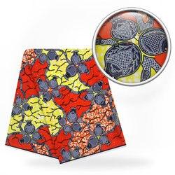 Afryki Ankara wosk z kamieniami unikalny materiał tkaniny Ankara 100% bawełna 6 metrów/dużo dla tkaniny do szycia i rzemiosło h170827