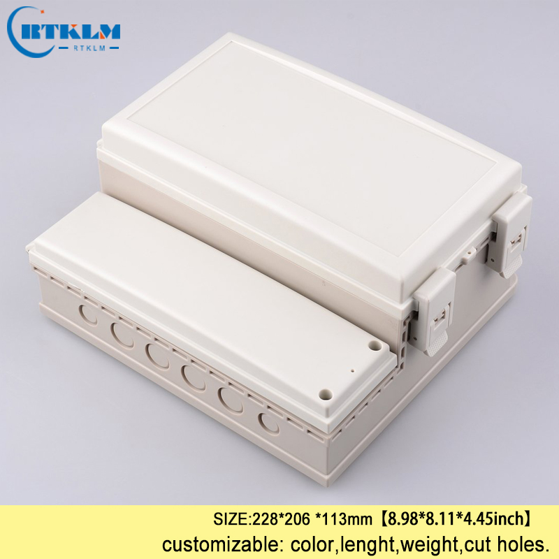 Waterproof junction box diy outdoor seal wire junction box ABS plastic enclosure electrical project instrument box 228*206*113mm 1pcs universal waterproof abs plastic 318x236x155mm junction box project enclosure diy outdoor electrical connection cable box