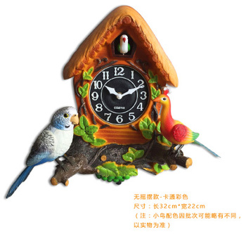 Cuckoo watch cartoon children room decorate the living room and bedroom quiet time bird Reporting time quartz wall children room