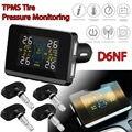 Frete grátis! Car Auto D6NF TPMS Sistema de Monitoramento de Pressão Dos Pneus + 4 Sensores Internos