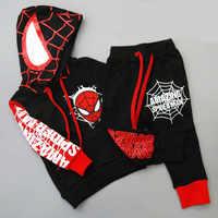 Spiderman Kinder Jungen Kleidung set Baby Jungen Spinne mann Sport Anzüge 2-6 Jahre Kinder 2 stücke Sets Frühling herbst Kleidung Trainingsanzüge