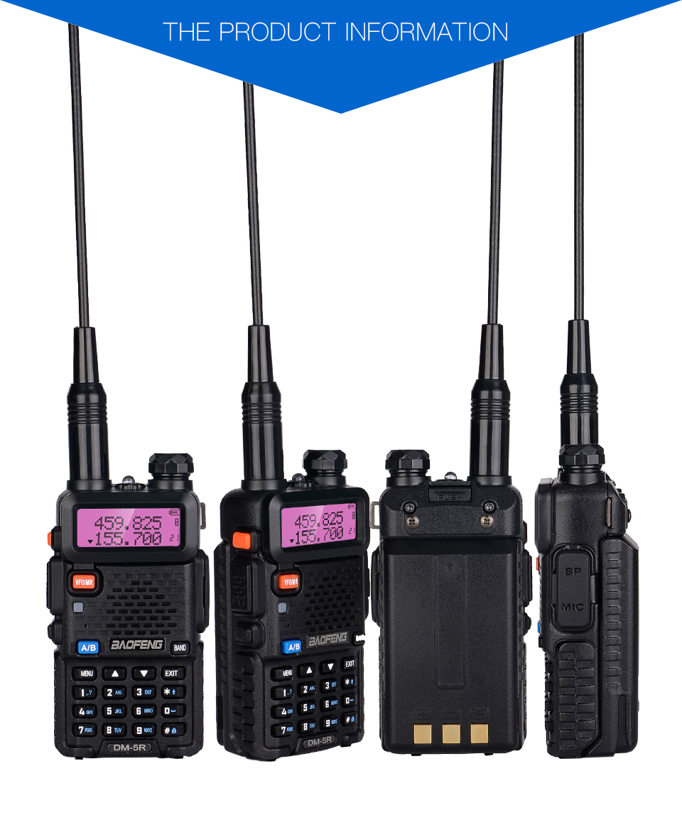 NEW Baofeng DM-5R Plus digital Walkie Talkie DMR Tier1 Tier2 Tier II Dual  time slot Digital/Analog VHF/UHF Two Way Radio