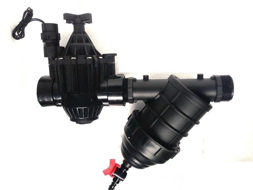 2 in. einlass Inline Kunststoff Wohn/Kommerziellen Bewässerung Ventil + Filter