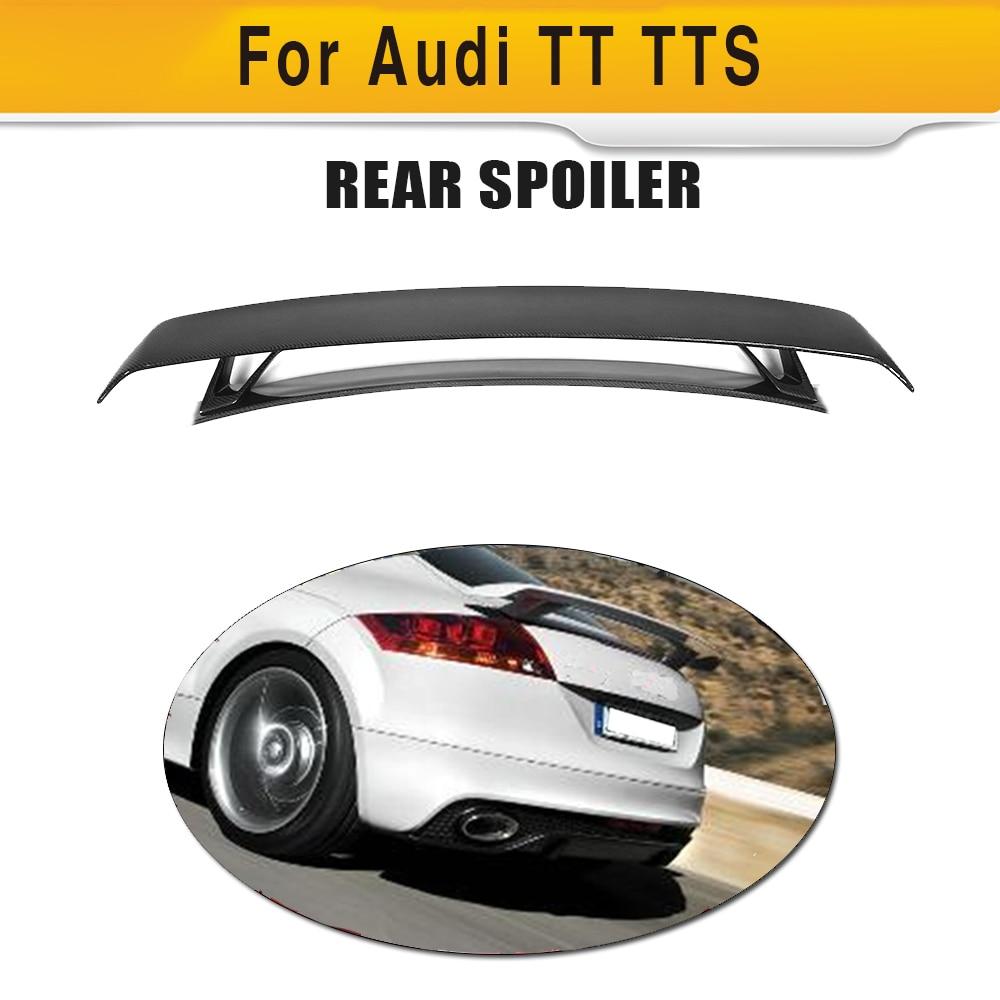 In Fibra di carbonio Auto Posteriore Tronco Spoiler Ala per Audi TT MK2 8J TTS Coupé 2 Porta Solo 08- 14 Quattro Convertibile Nero FRP