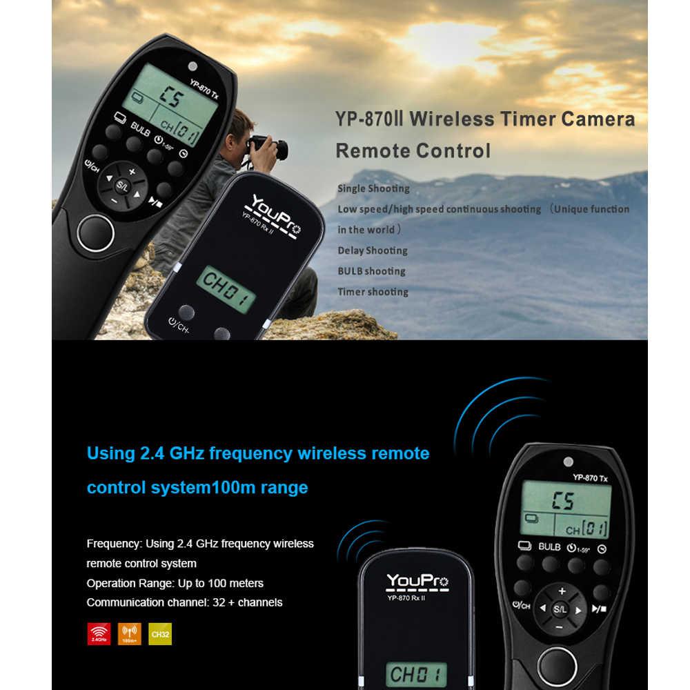 YouPro YP-870 DC0 для Nikon D5 D4S D4 D3S D3 дистанционный пульт с LCD Таймер спуск затвора по интерфейсу hdmi передатчик и приемник для ЖК-дисплея с подсветкой Fujifilm Камера