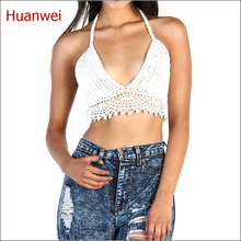 Summer new Hand swimwear beach sport bra crochet bikini tops Handmade Crochet Top Ladies Knitted Beach camisoles