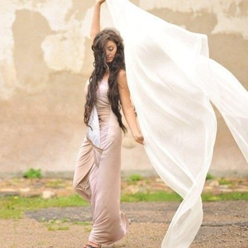 100% reale di Seta Danza Del Ventre Velo 1 Pc Danza Del Ventre Accessorio di Ballo di Pancia Dello Scialle di Velare Sciarpa di Pratica di Ballo di Prestazione Della Fase velo