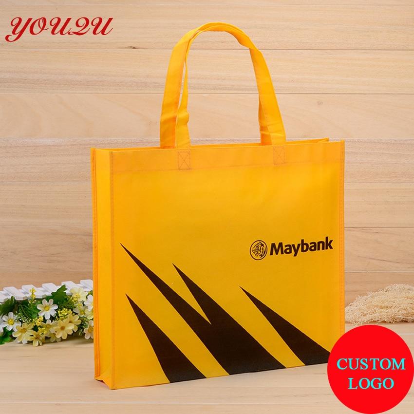 Экологичная сумка для использования рекламная печать логотипа сумка для покупок размер 30*35*10 см