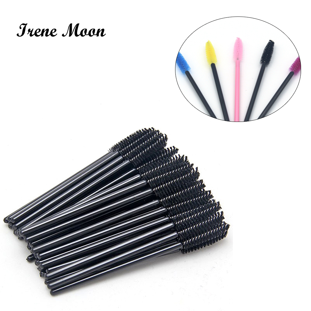 Hot Sale 20 Pcs Disposable Eyelash Mini Brush Mascara Wands Applicator Spoolers Makeup