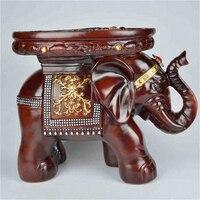 European Elephant Change Shoe Cartoon Children's Stool Bench Creative Solid Wood Furniture Stool Resin Crafts Decoration