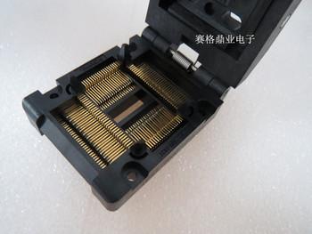 Z klapką 100 oryginalne i nowe IC51-1004-814-19 QFP100 TQFP100 LQFP100 IC spalania siedzenia Adapter testowania miejsce badania testowania gniazd ławki tanie i dobre opinie Tester kabli JINYUSHI