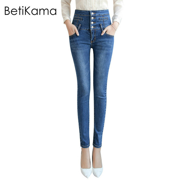 8f1a87082f1f8 BetiKama Skinny Jeans Woman Denim Pants High Waist Push Up Jeans Ladies  Plus Size XS-5XL Calca Jeans Femme Dames Jeans Female
