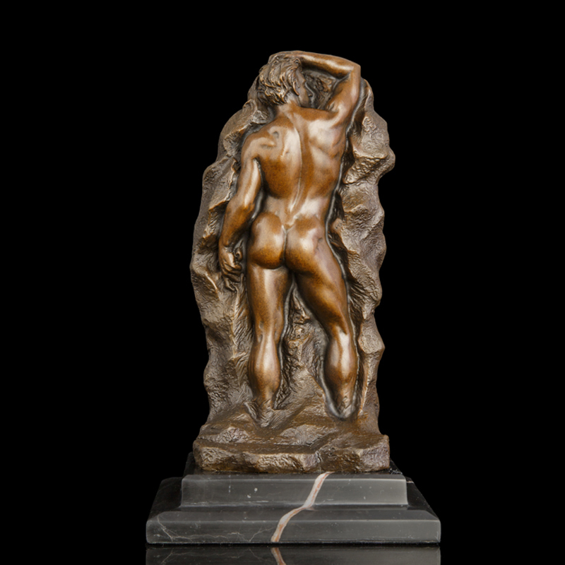 ATLIE BRONZE Nouveau Arts Bronzes Abstract antique statue relief embossment figurine Desktop decoration