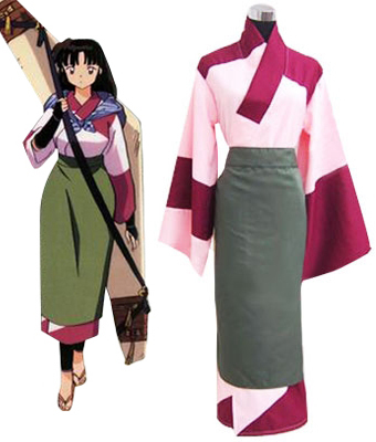 Anime InuYasha Sango Kimono Cosplay Costume custom made