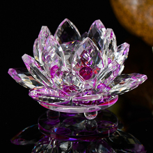Quartz Crystal Lotus Flower Crafts Glass Paperweight Fengshui Ornaments Figurines Home gardening  Party Decor Gifts Accessories цены