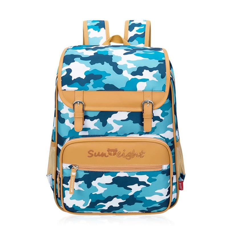 ФОТО Brand New Camouflage Waterproof Orthopedic Children School Bags For Girls Boys Fashion School Backpack Kids Bag Mochila Escolar
