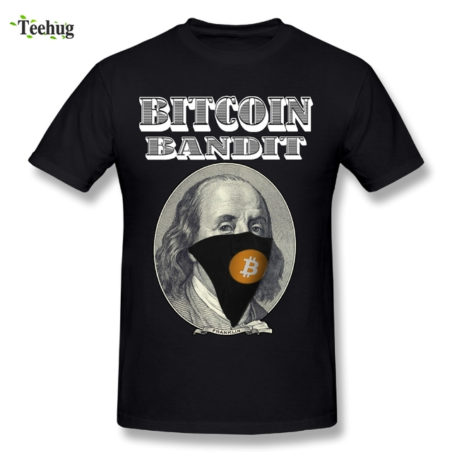 2018 Men's Bandit Bitcoin T Shirts New Arrival 100% Cotton T-Shirt Fashion Streetwear Short Sleeve