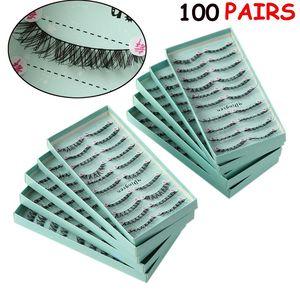 Image 3 - 10 صناديق/100 Pairs طويلة الطبيعية لينة المستوردة الحرير بروتين الألياف الرموش الصناعية سميكة عبر العين لاش تمديد ماكياج