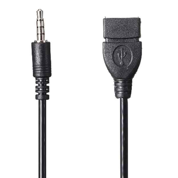 WUPP 3.5mm Male Audio AUX Jack to USB 2.0 Type A Female OTG Converter Adapter Cable Car Accessories HDMI cable #40