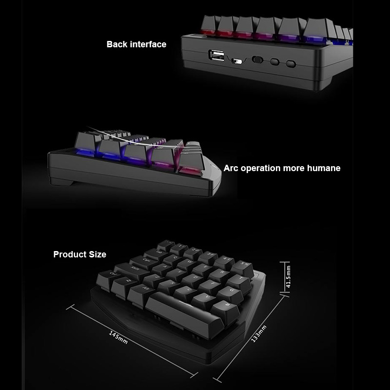 28 touches D'une Conception de La Main clavier mécanique Sans Fil pour Esport Gaming PUBG Mobile Jeux nouveauté