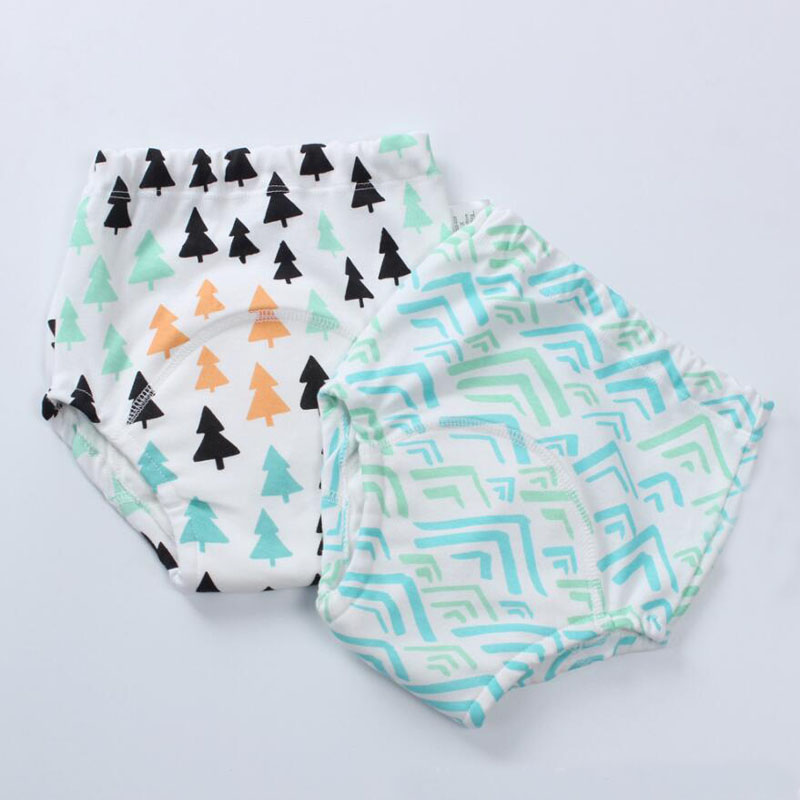 4PCS Cotton Reusable Waterproof Baby Potty Training Pants 6 Layers Cloth Diaper Nappy Panties Kids Toddler Underwear
