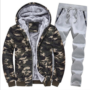 Image 3 - Large Size M 5XL Winter Tracksuits Men Set Plus Velvet Sporting Suit Warm Thickened Sportswear Sweatsuit Two Piece Outfit sets
