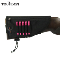 Tourbon Hunting Accessories Airsoft Sports Gun Buttstock Rifle Cartridge Holder Ammo Carrier Hold 5 Shells Cheek