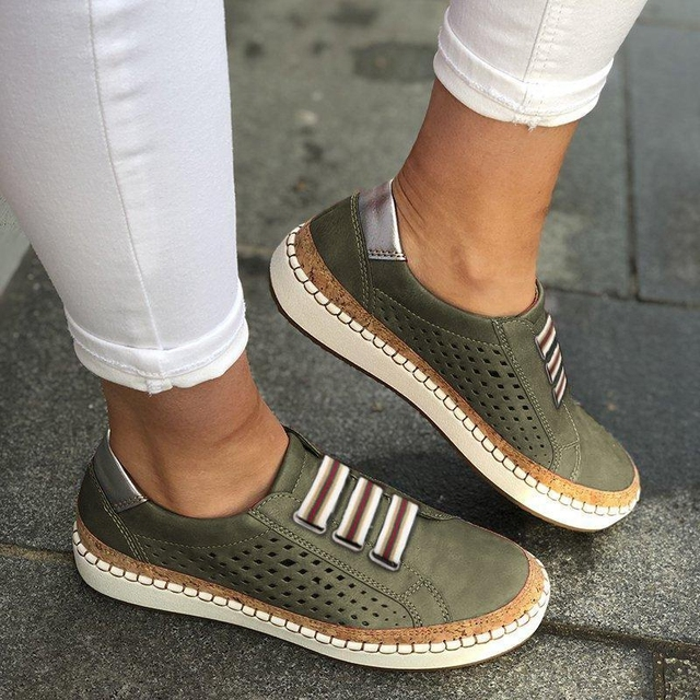 Puimentiua 2019 Breathable Spring Women Shoes White Women Casual Shoes Fashion Mesh Women Sneakers Flats Platform Lace-up Summer 4