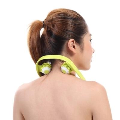 Cervical massage stick body massage neck concave-convex roller massager u-shaped neck massager manually