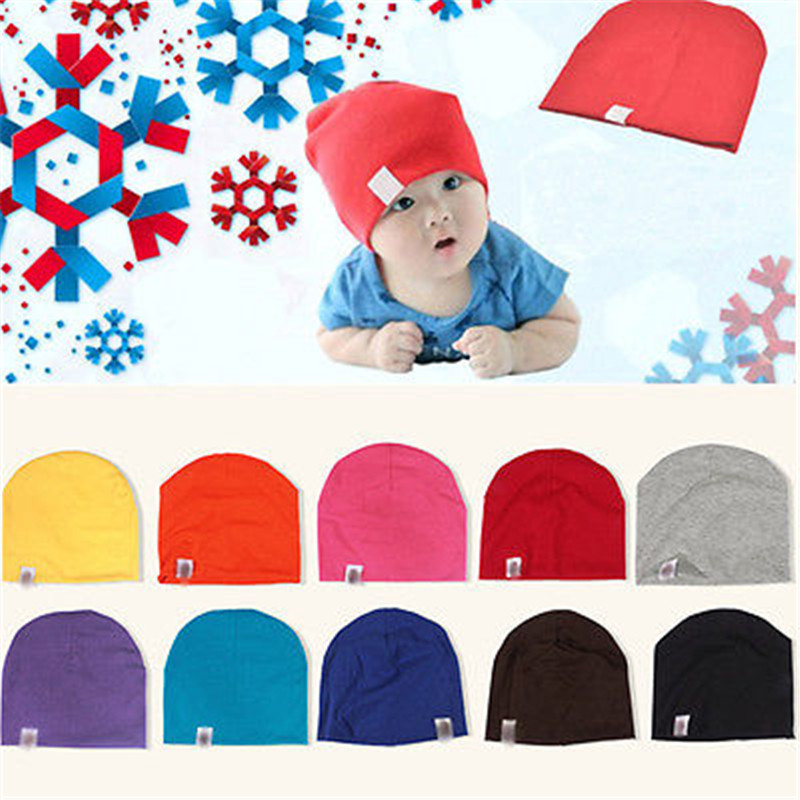 Unisex Cotton Beanie Hat for NewBorn Cute Baby Boy Girl Soft Toddler Infant Cap