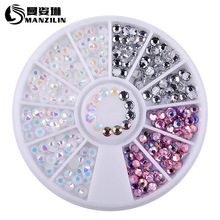 1 Box Colorful 3D Jelly AB Acrylic Wheel Nail Stickers Decoration DIY Nail Art Tips Jewelry Rhinestones Manicure tools цены