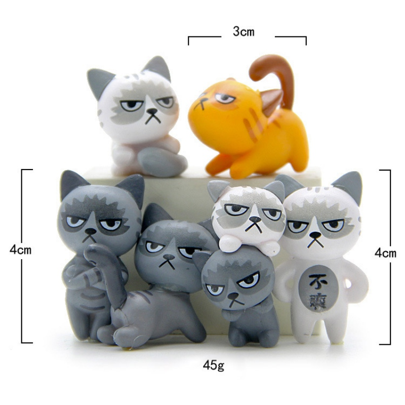 Super Cute! New Collection Beautiful Unfortunately Cats Action Figure Toys Children Toys Baby Room Decoratio