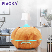 PIVOKA 400ml Air Aroma Humidifier Ultrasonic Essential Oil Diffuser LED Lights Mist Maker Luchtbevochtiger For Home