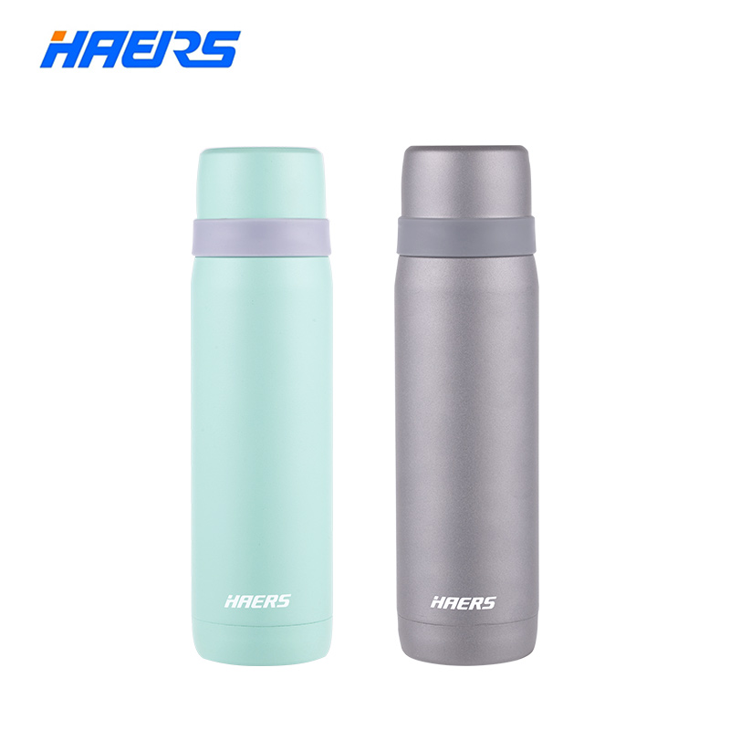 Haers 18 8 Stainless Steel Thermal Bottle Bullet Beverage Vacuum Insulated Bottle With Built in Cup