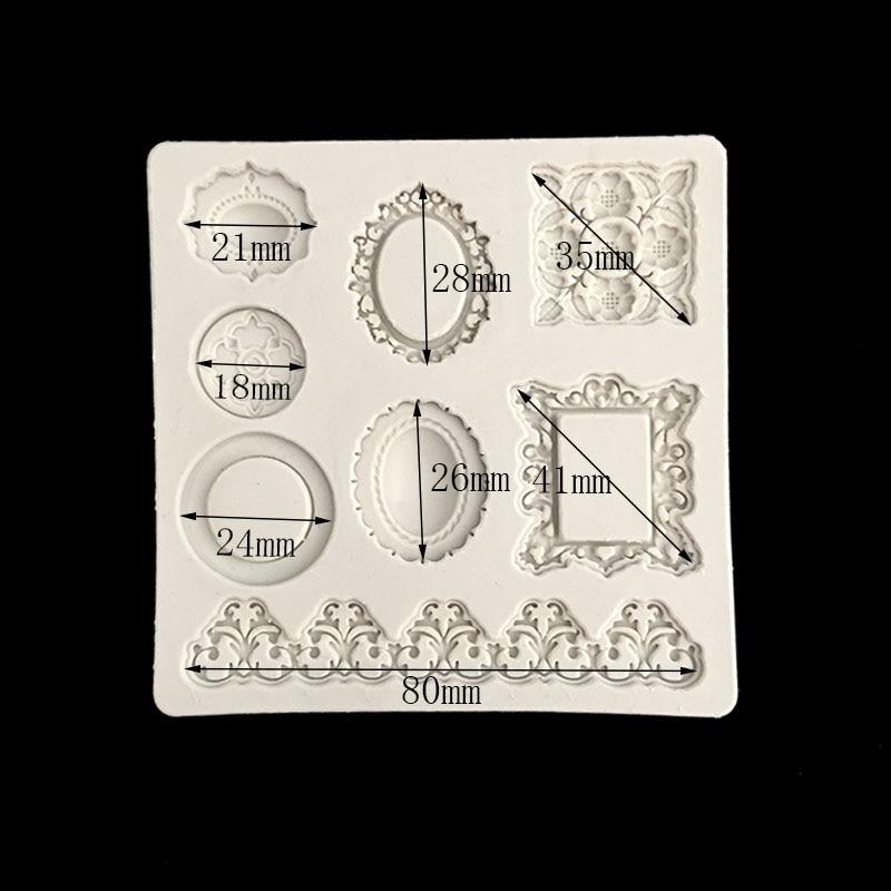 minsunbak Ornate jewelery diamond shapes Silicone mould Fondant Candy Chocolate Baking tools DIY cake decoration