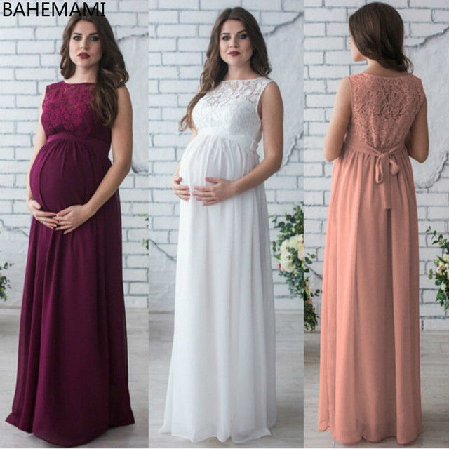 1f23577a0e253 Vestido Maternity Dresses For Photo Shoot Pregnancy Clothes Pregnant Women  Lady Elegant Vestidos Lace Party Formal Evening Dress