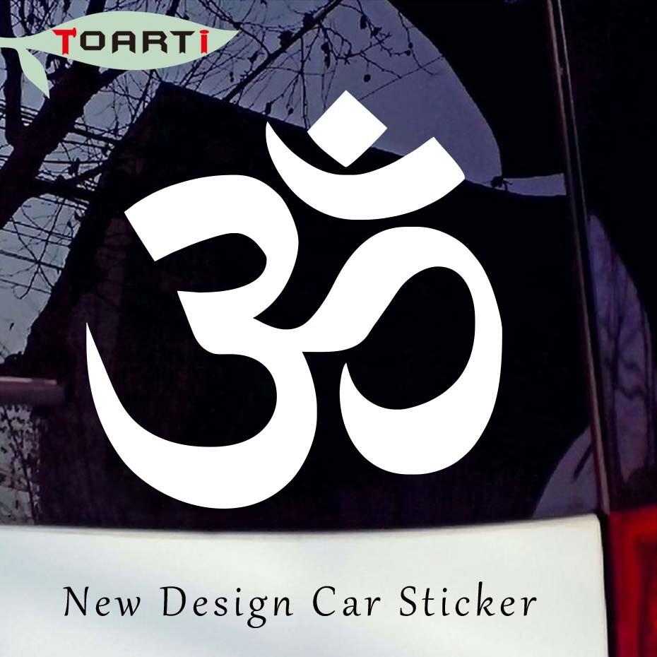 Desain baru yoga simbol vinyl stiker mobil untuk mobil truk komputer window removable tahan air meditasi om stiker mobil styling di mobil stiker dari mobil