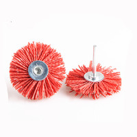 Red Abrasive Wheel Brush Woodwork Durable Polish Bench Grinder For Metal Stone Wood