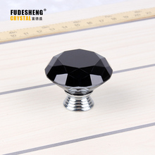 40mm Cabinet Hardware Handle Drawer Black Crystal Diamond Crystal Knobs  Decoration Accessories, Home Accessories
