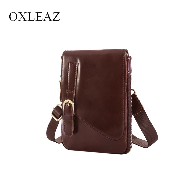 f5e839838a2c US $35.18 |OXLEAZ Male Black Waist Bag Small Messenger Bags Men Genuine  Leather Waist Pouch Purse Belt Pack Mobile Bag for Women-in Crossbody Bags  ...