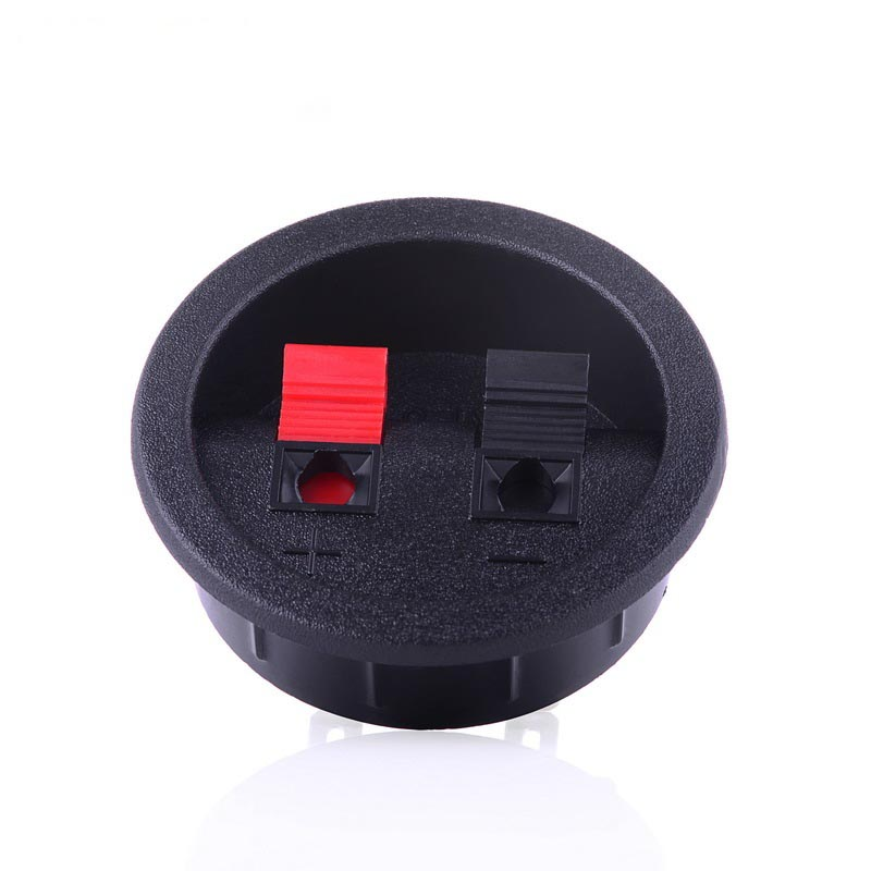 40pcs audio connector two speaker junction panel round. Black Bedroom Furniture Sets. Home Design Ideas