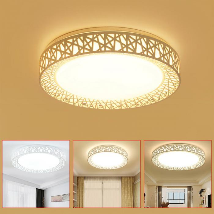 HTB1cWP.eA9E3KVjSZFGq6A19XXa3 Cool Ceiling Lights | Circular Ceiling Light | Newest LED chandelier Bird Nest Round raven Lamp Modern Fixtures For Living Room Bedroom Kitchen Modern Light-KK Diameter 27cm