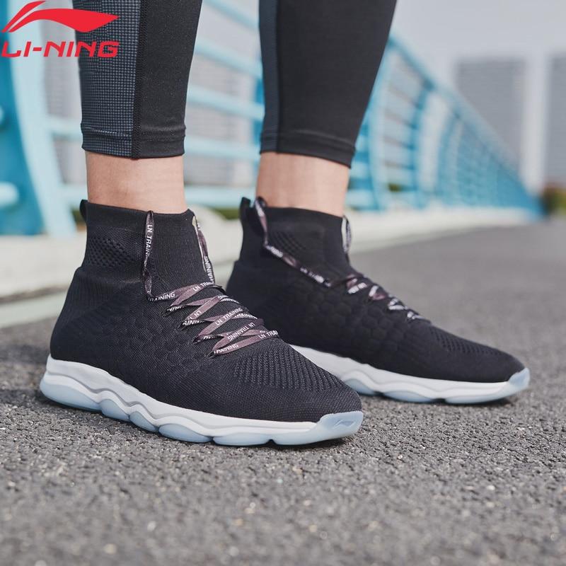 Li Ning Men NO BOUNDARIES Cushion Training Shoes Mono Yarn Breathable High Cut LiNing Sock Like