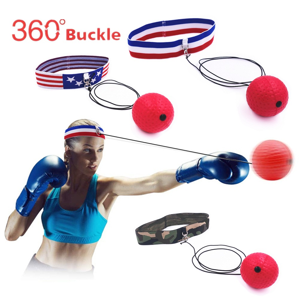 tennis Ball with string to improve Reaction and Speed Punch Boxing Fight Ball Reflex Boxing Headband MMA and Gym Equipment perfect for Hand Eye Coordination Training and Punching Speed Improvement