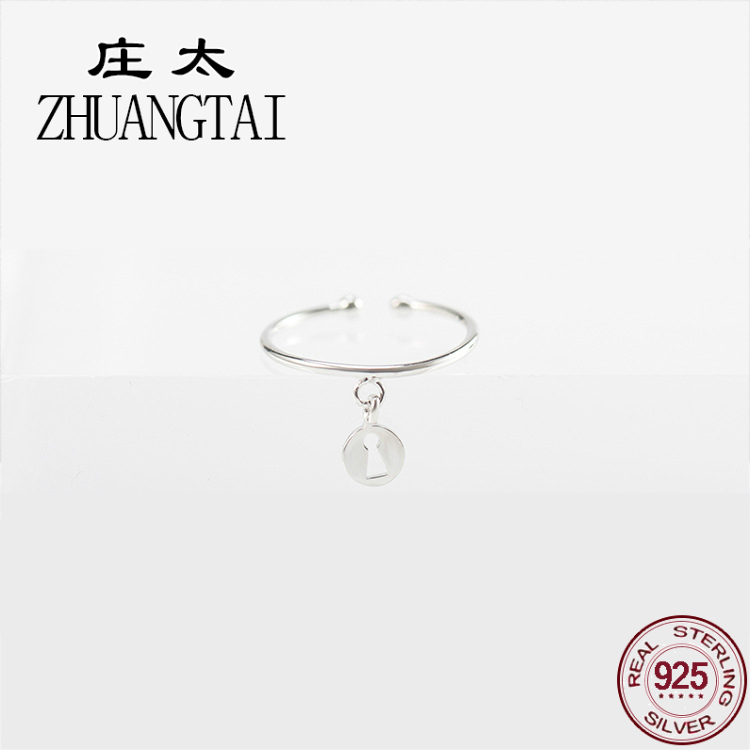 ZHUANGTAI Jewelry Real 925 Sterling Silver Best Friend Ring Adjustable Concise Ladies Finger Rings For Women Fashion Accessories